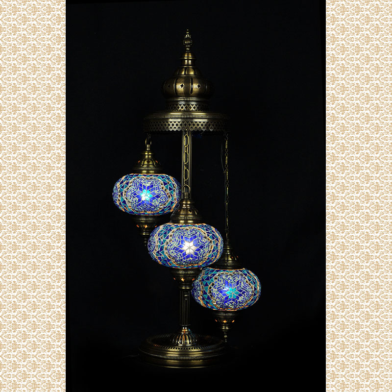 Floor mosaic lamp mosaic floor lamp 3 balls mozeypictures Choice Image