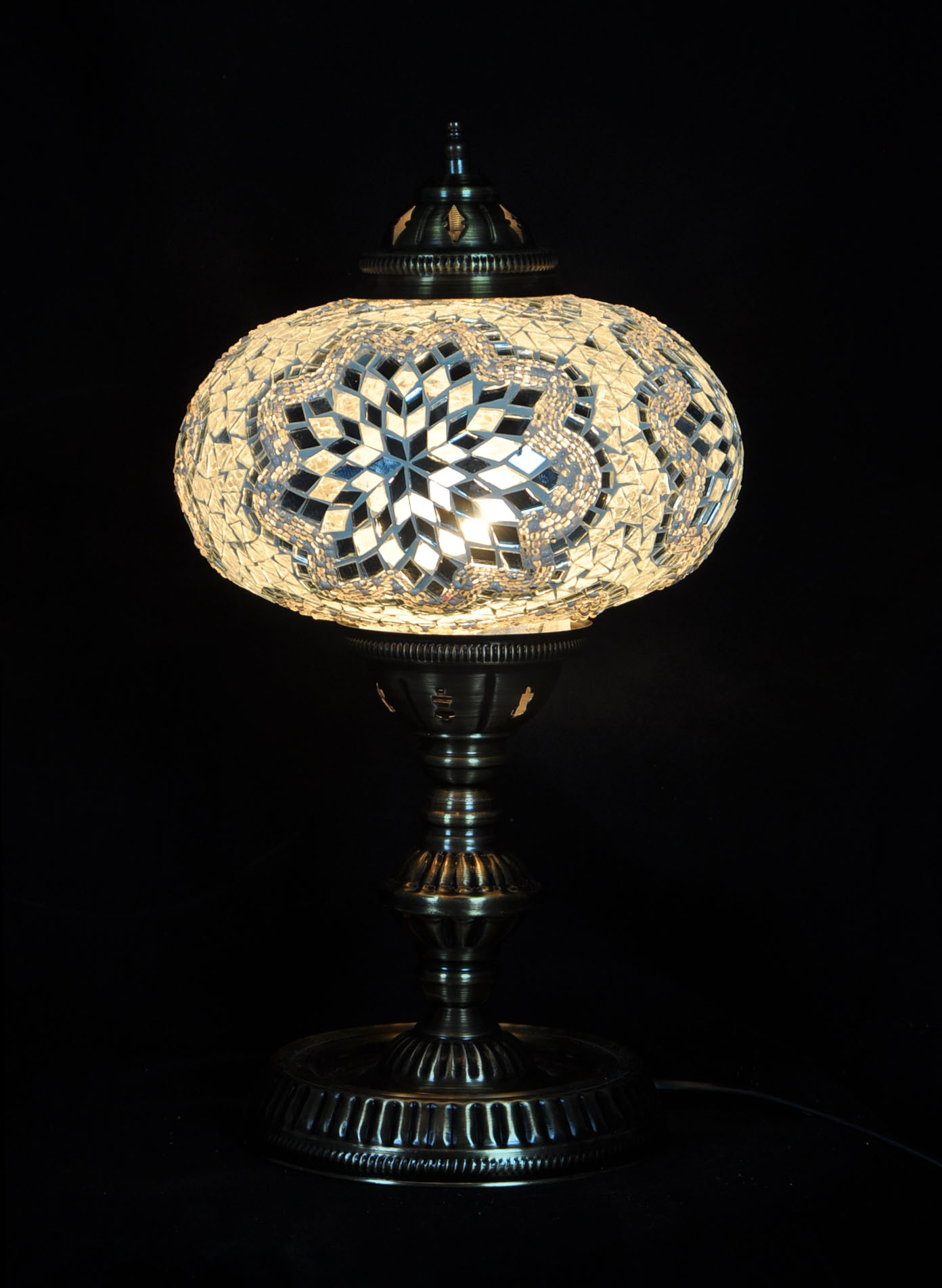 Table lampmosaic glass turkish lamp mosaic table lamp x large aloadofball Gallery