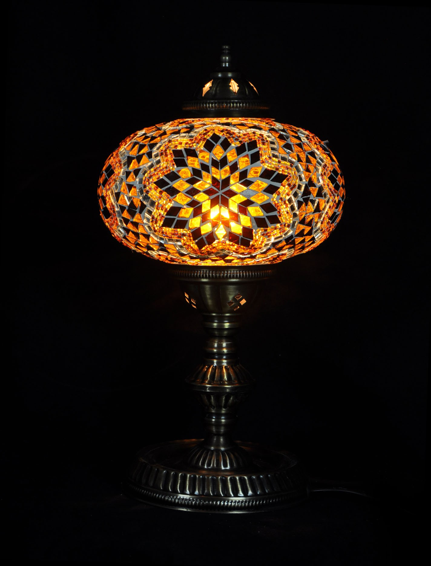 Table lampmosaic glass turkish lamp mosaic table lamp x large aloadofball Images