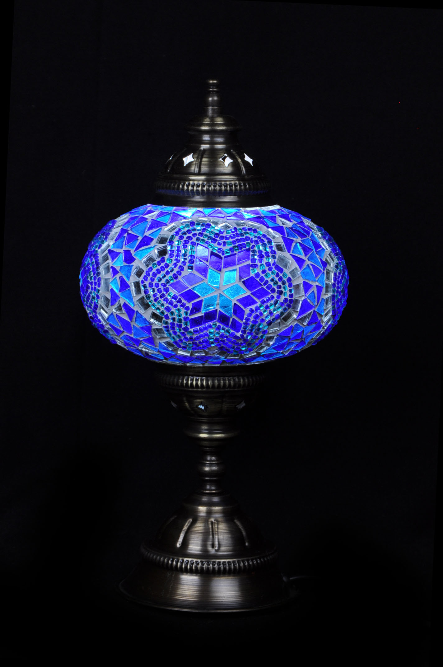 turkish lamps table lighting online the lamp ufo mosaic blue pixie dancing